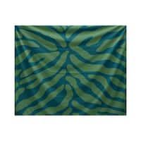 E by Design Animal Stripe Geometric Print Tapestry