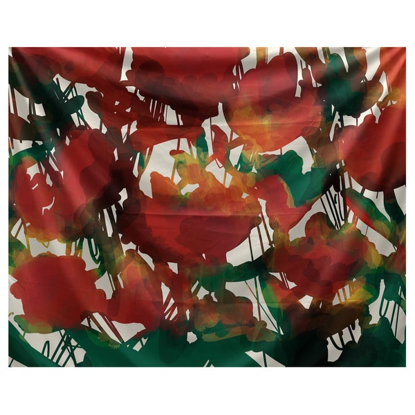 E by Design Abstract Floral Floral Print Tapestry