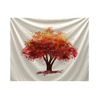 E by Design Fall Bounty Floral Print Tapestry