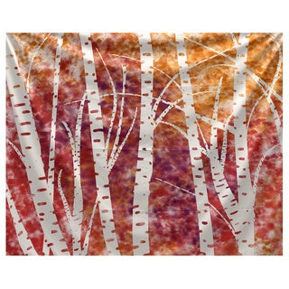 E by Design Birch Trees Floral Print Tapestry
