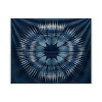 E by Design Shibori Burst Geometric Print Tapestry