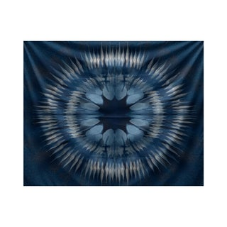 E by Design Shibori Burst Geometric Print Tapestry