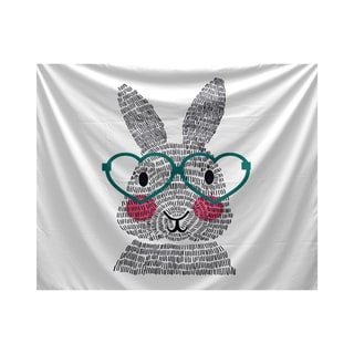 E by Design What's Up Bunny Holiday Animal Print Tapestry
