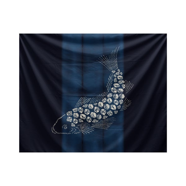 E by Design Fish Pool Animal Print Tapestry