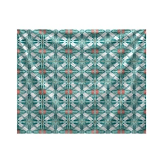E by Design Beach Tile Geometric Print Tapestry