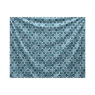E by Design Water Mosaic Geometric Print Tapestry