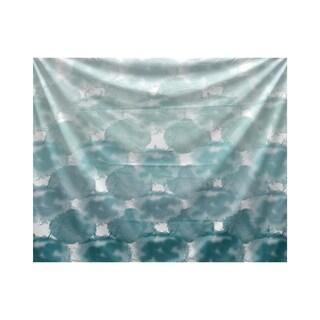 E by Design Beach Clouds Geometric Print Tapestry