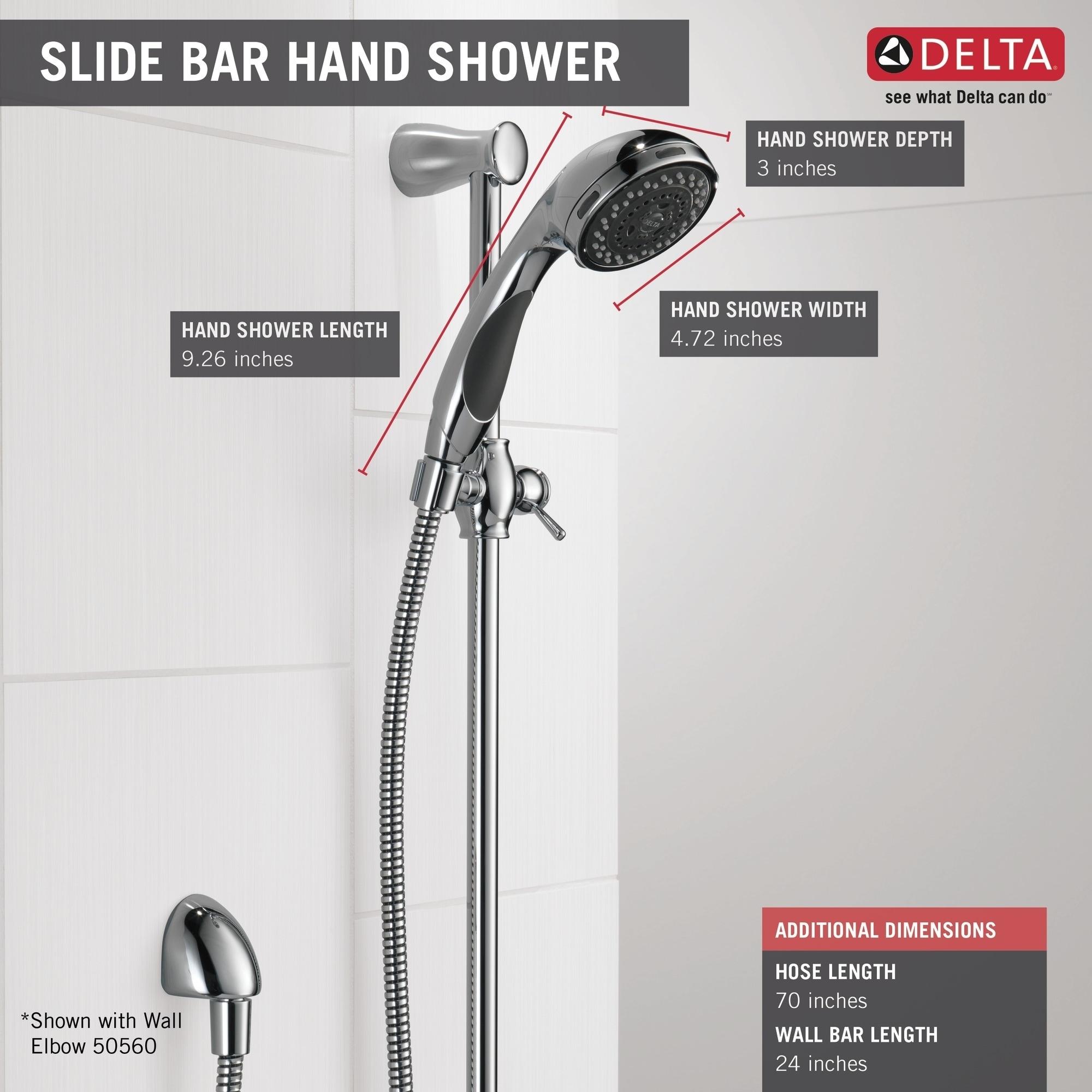 Shower Kit Wall Bar Shower 1.75 GPM Oil Rubbed Bronze 3-Spray Adjustable Slide
