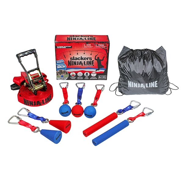 NinjaLine Red/Blue 30-foot 7-obstacle Pro Combo Kit
