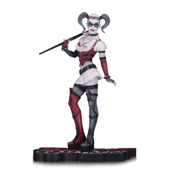 DC Comics Harley Quinn Red White and Black Arkham Asylum Statue