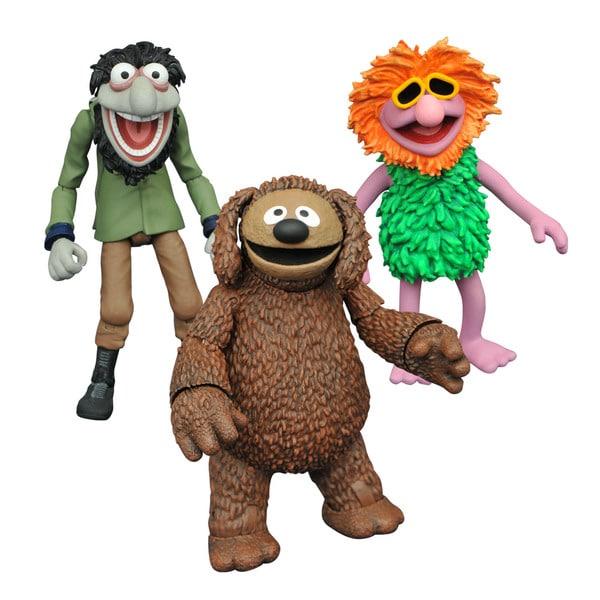 Diamond Select Toys LLC Muppets Select Series 2 Rowlf, Crazy Harry. and Mahna Mahna Action Figures