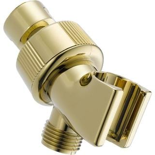 Delta Adjustable Shower Arm Mount for Hand Shower in Polished Brass U3401-PB-PK