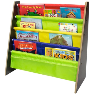 Sorbus Bright Primary Colors 4-pocket Kid's Bookshelf
