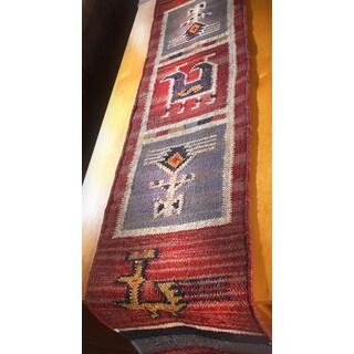 """Tribal 13x72"""" Flat Weave Table Runner"""