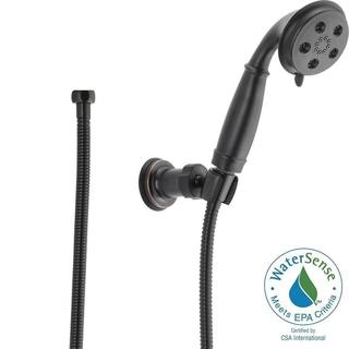 Delta 3-Spray 2.0 GPM Wall Mount Handshower in Venetian Bronze featuring H2Okinetic 55433-RB