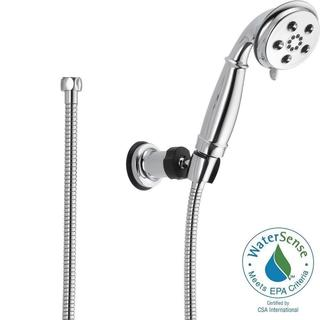 Delta 3-Spray 2.0 GPM Wall Mount Handshower in Chrome featuring H2Okinetic 55433