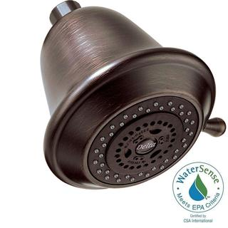 Delta 3-Setting 3-Spray Touch-Clean Shower Head in Venetian Bronze RP43381RB