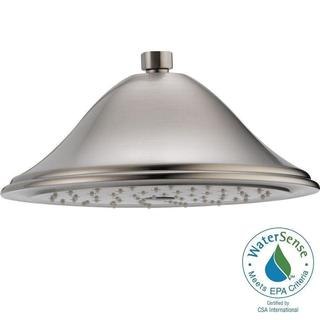 Delta 1-Spray 9-3/8 in. Raincan Showerhead in Stainless RP72568SS
