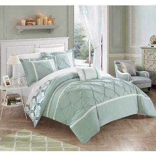 Chic Home 4-Piece Avee Green Comforter 4 Piece Set