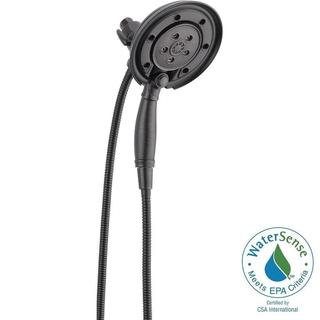 Delta In2ition Two-In-One 4-Spray 2.5 GPM Handshower in Venetian Bronze featuring H2Okinetic and Mag