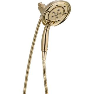 Delta In2ition Two-In-One 4-Spray 2.5 GPM Hand Shower in Champagne Bronze Featuring H2Okinetic and MagnaTite Docking 58471-CZ-PK