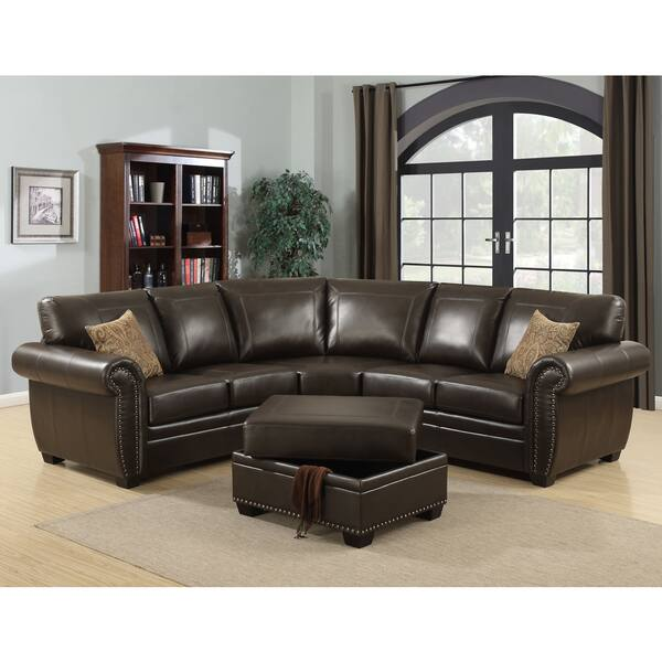 Brilliant Shop Ac Pacific Louis 3 Piece Brown Living Room Sectional Gmtry Best Dining Table And Chair Ideas Images Gmtryco
