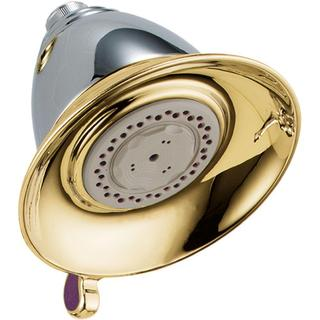 Delta Victorian 3-Spray 5-1/2 in. Touch-Clean Showerhead in Chrome/Polished Brass RP34355CB