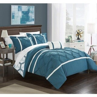 Chic Home 4-Piece Avee Blue Comforter Set