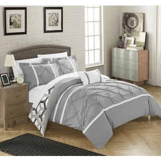 chic home 8piece avee bedinabag grey comforter 8