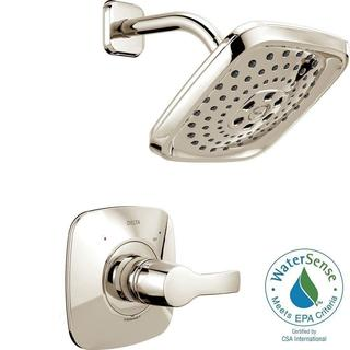 Delta Tesla H2Okinetic 1-Handle Shower Faucet Trim Kit in Polished Nickel (Valve Not Included) T14252-PN