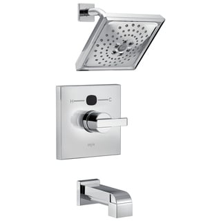 Delta Temp2O Angular Modern 1-Handle Tub and Shower Faucet Trim Kit in Chrome (Valve Not Included) T14401-T2O