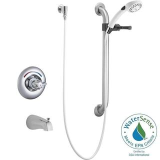 Delta Commercial 1-Handle Tub and Shower in Chrome (Valve Not Included) T13H253