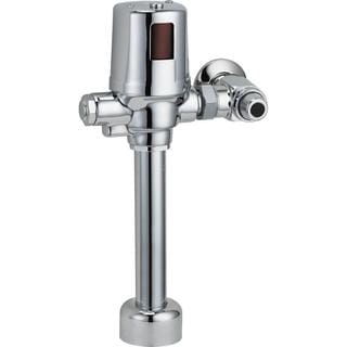 Delta Exposed Battery-Operated Flush Valve in Chrome 81T201BTA