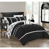 Chic Home 8-Piece Avee Bed-In-A-Bag Black Comforter Set