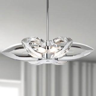 Golden Lighting Iberlamp Nan Steel and Crystal 6-light Pendant Chandelier #C148-06-CH