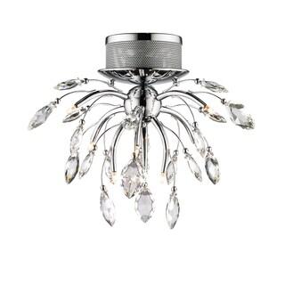 Golden Lighting's Iberlamp #C304-F9-CH 9-light Palm Flush Mount