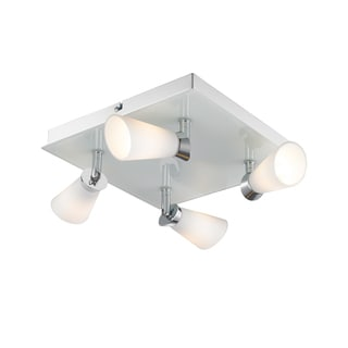 Iberlamp by Golden Lighting #C024-F4-CH Opera Collection 4-light Spotlight Flush-mount Fixture