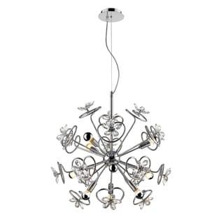 Golden Lighting Iberlamp Flora Steel 9-light Pendant #C354-09-CH