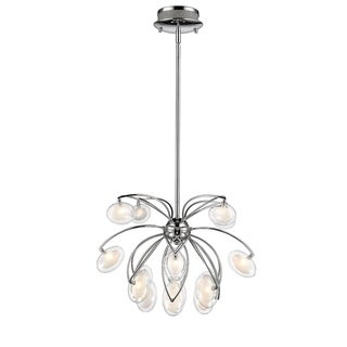 Iberlamp by Golden Lighting Mei Steel16-light Pendant