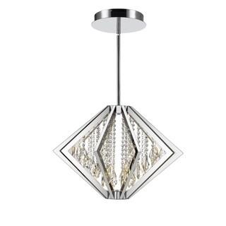 Golden Lighting Iberlamp Chrome Bezel Medium LED Pendant