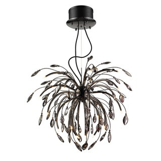 Iberlamp by Golden Lighting's Palm Crystal Graphite Pendant Chandelier