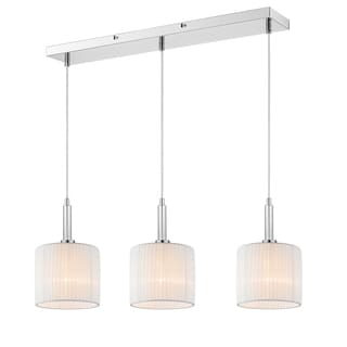Iberlamp by Golden Lighting's Solal Three-Light Linear Pendant