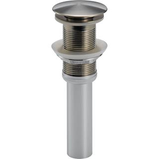 Delta Push Pop-Up Drain Assembly in Stainless Less with Overflow Holes 72172-SS