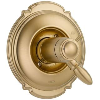 Delta Victorian TempAssure 17T Series 1-Handle Vol./Temp. Control Valve Trim Kit Only in Champagne Bronze (Valve Not Included)