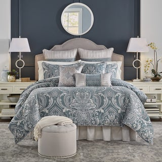Croscill Gabrijel Chenille Jacquard Woven Damask 4-piece Comforter Set (2 options available)