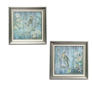 Urban Designs Bird And Branches 2-piece Square Framed Wall Art