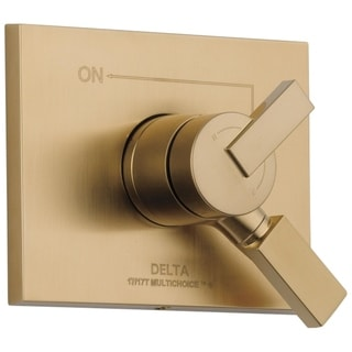 Delta Vero Monitor 17 Series 1-Handle Volume and Temperature Control Valve Trim Kit in Champagne Bronze (Valve Not Included)