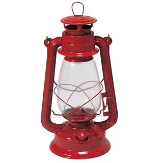 "Stansport 127 12"" Red Kerosene Lantern