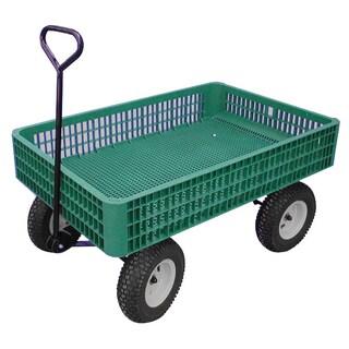 """Millside Industries Inc. 03910 G 30"""" X 46"""" Plastic Mesh Deck Wagon"""