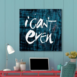 Portfolio Canvas Decor IHD Studio 'I Can't Even' Blue Stretched and Wrapped Ready-to-hang Wall Art Print